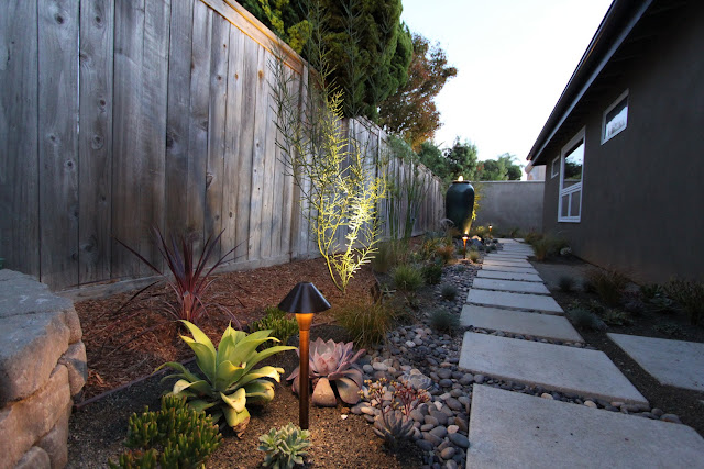 lighting a mid-century modern landscape design