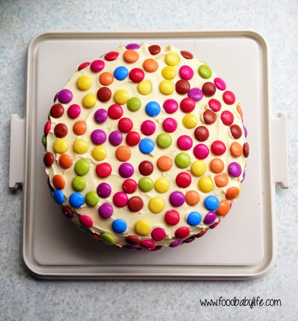 Smarties Cake © www.foodbabylife.com