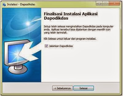 Jalankan aplikasi dapodik yang sudah terinstal di komputer/laptop Anda