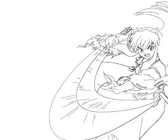 #12 Inuyasha Coloring Page