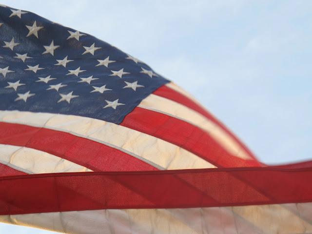American flag in LA - Los Angeles, California - travel blogger