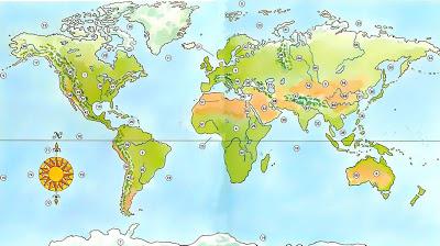 Κατανομή των ηπείρων και των ωκεανών