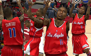 NBA 2K13 L.A. Clippers Red Away Jersey