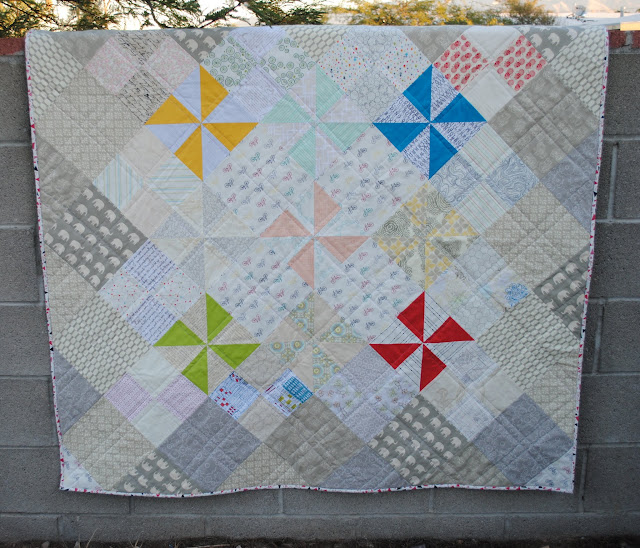 low volume pinwheels split personalities quilt