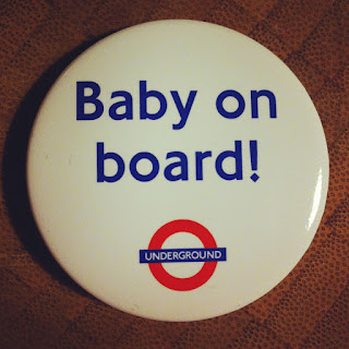 Baby on board badge for London underground