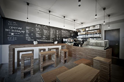Retro Coffee Bar Interior Design photos