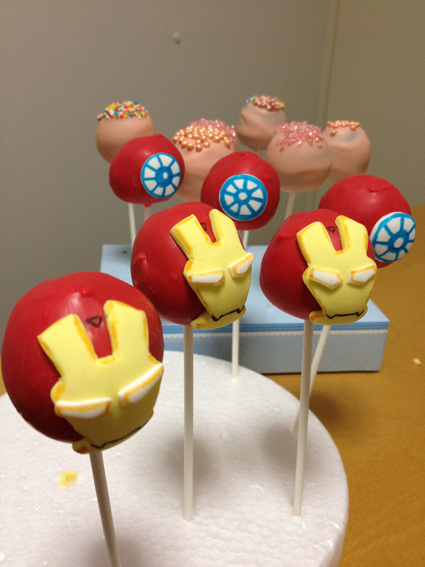 Iron Man cake pops  My cake pop creations in 2018