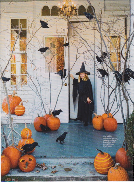 Halloween entrance with Pumpkins