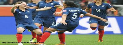 Couverture jorunal facebook football féminin français