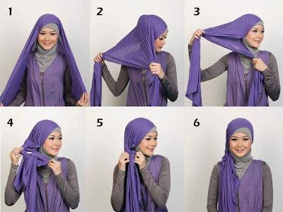 Cara Memakai Jilbab untuk wajah oval