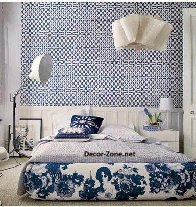Bed headboards ideas to make a diy headboard with wallpaper for Wallpaper headboard