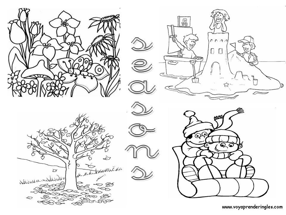 Dibujos Estaciones Del A O Para Colorear MEMES Pictures