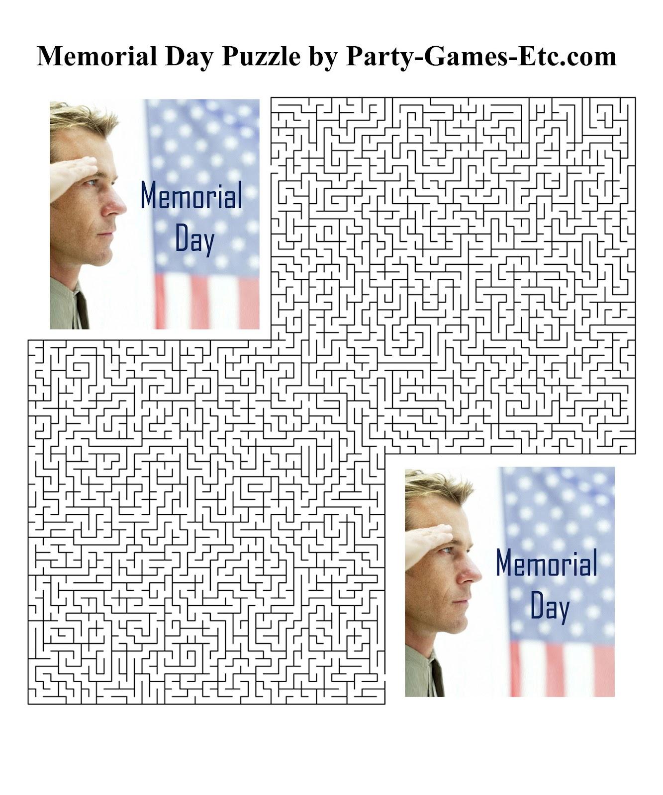 Memorial Day Printable Activities : Let's Celebrate!