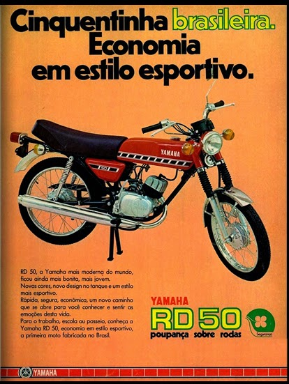 Yamaha.  brazilian advertising cars in the 70. os anos 70. história da década de 70; Brazil in the 70s; propaganda carros anos 70; Oswaldo Hernandez;