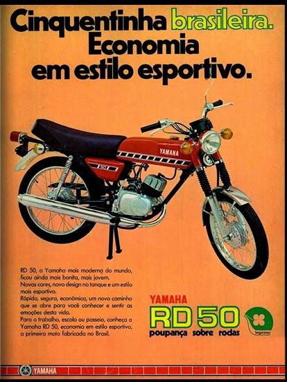Yamaha.  brazilian advertising cars in the 70. os anos 70. história da década de 70; Brazil in the 70s; propaganda carros anos 70; Oswaldo Hernandez;