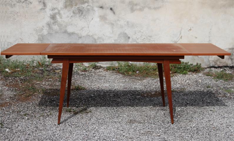 chicbaazar objets vintage 50 60 70 table scandinave 1960 vintage pieds compas. Black Bedroom Furniture Sets. Home Design Ideas
