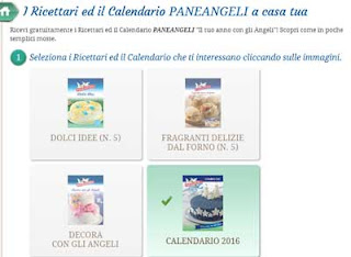 Calendario 2016 ricettari Paneangeli