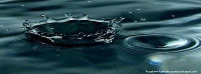 couverture journal facebook goutte d'eau