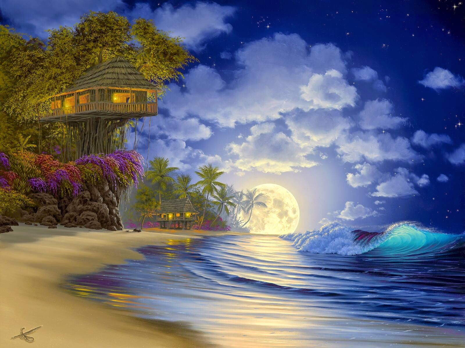 Beautiful tree house fantasy fairy tale images pictures hd for Beauty full house