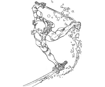 #11 Deadpool Coloring Page