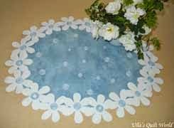 Flower tablecloth - daisies, tutorial