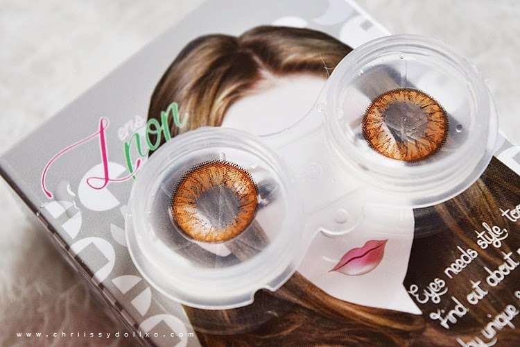 Klenspop Bunny Color Brown Circle Lenses Review and Demo