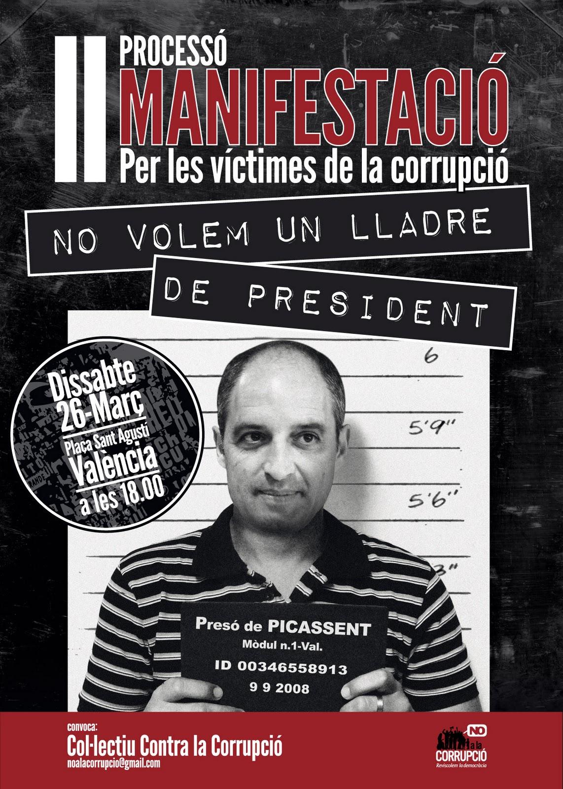 Manifestació contra la corrupció 26-3 Cartell_26M_