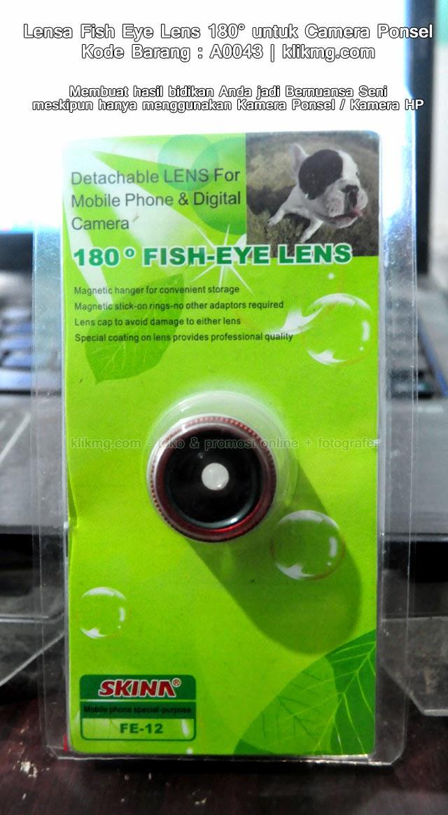 Lensa Fish Eye Lens 180° untuk Camera Ponsel - Kode Barang : A0043 | Membuat hasil bidikan Anda jadi Bernuansa Seni meskipun hanya menggunakan Kamera Ponsel / Kamera HP