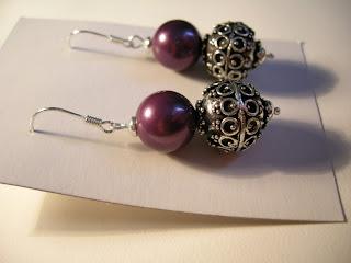 biżuteria z półfabrykatów - kolczyki z bali