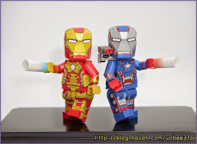 Lego Ironman and Iron Patriot Paper Craft Model