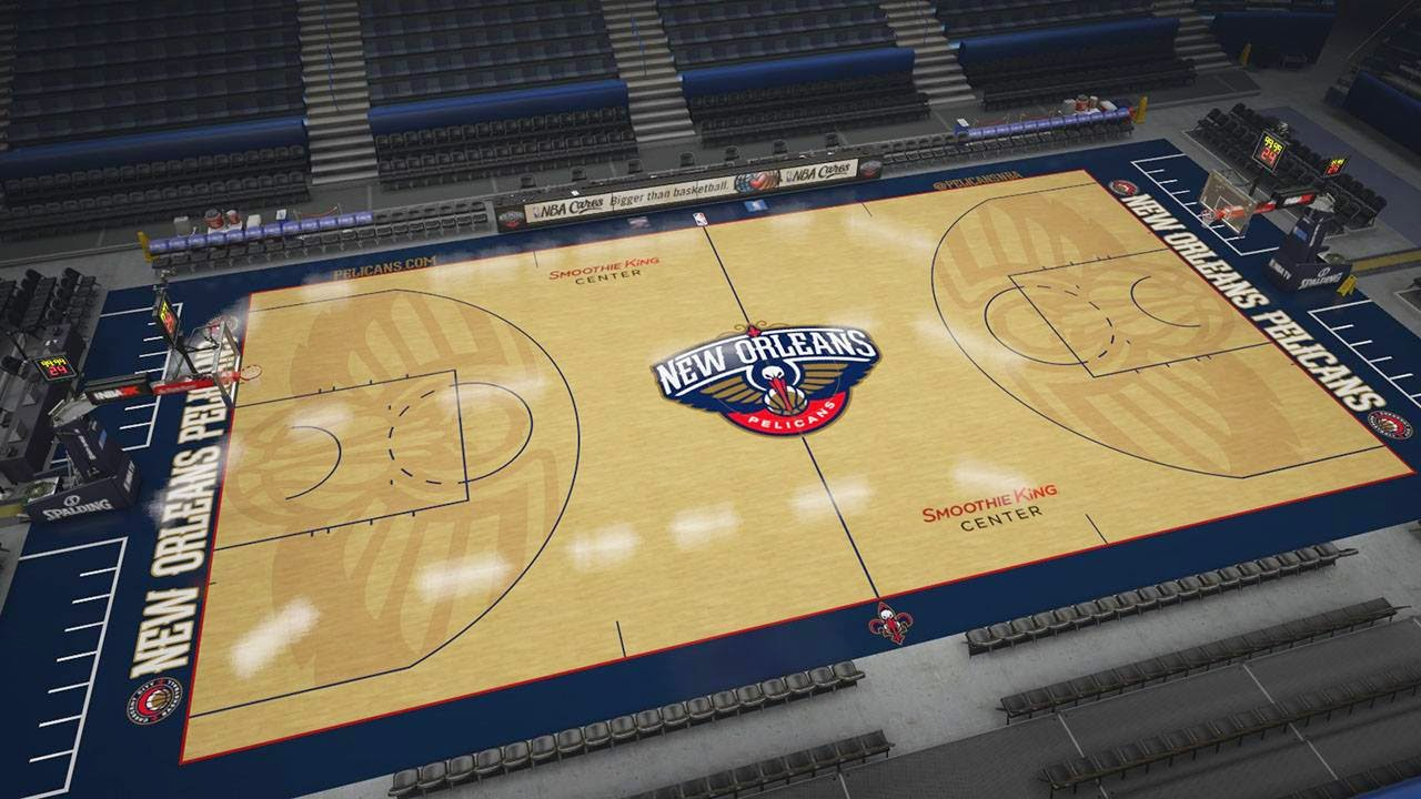 Pelicans new court in NBA 2K15