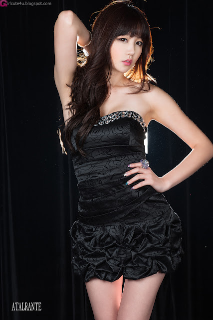 1 Hong Ji Yeon in Black-Very cute asian girl - girlcute4u.blogspot.com