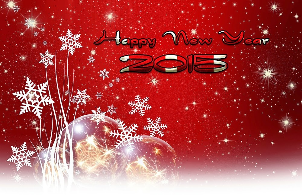 Top Beautiful Christmas Style Happy New Years Wishes Wallpapers 2015
