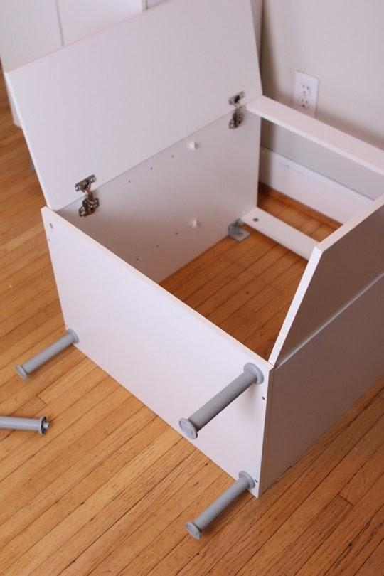 Mueble n rdico con armarios para lavabo la garbatella - Patas para armarios ...