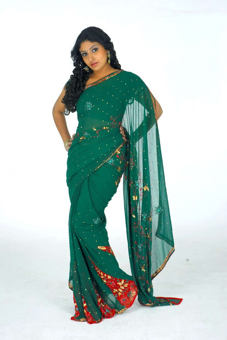 Nikita in a Green Boota Home Wear Saree, Home Wear for Women images