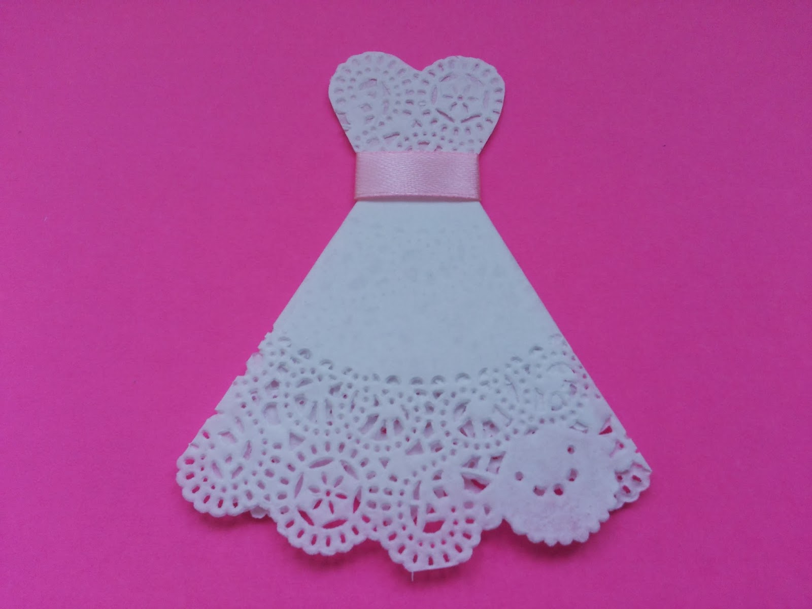 real diy    how to make wedding dress from doily paper