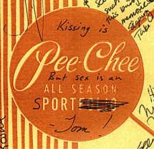 Kissing is Pee Chee