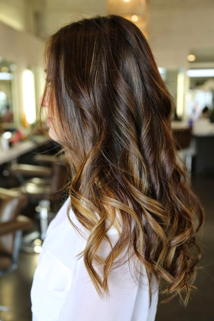 12 flattering dark brown hair with caramel highlights hairstyles caramel highlights ombre hair dark this far down and let color fade pretend my hair the length it is white out below that length and this is it pmusecretfo Images