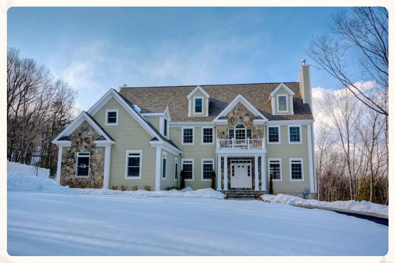 wonderful signature modular homes #3: This luxurious two-story home has 5 bedrooms, 3.5 bathrooms, and an  unfinished basement. It is a 4,200 square foot home located in Bedford, NY.