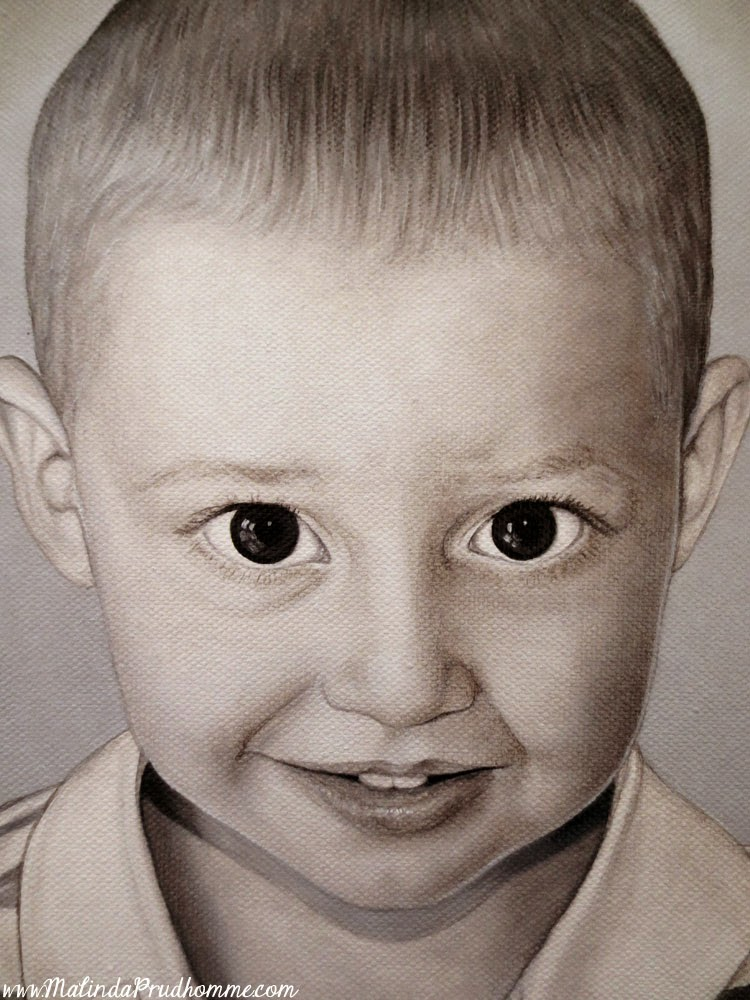 simon, colard, christiane colard, calvin colard, malinda prudhomme, custom portrait, baby portrait, child portrait, black and white portrait, custom artwork, custom painting, toronto artist