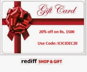 Gift Vouchers 20% off on Purchase of Rs. 1500 (Max. Rs. 500 Discount)