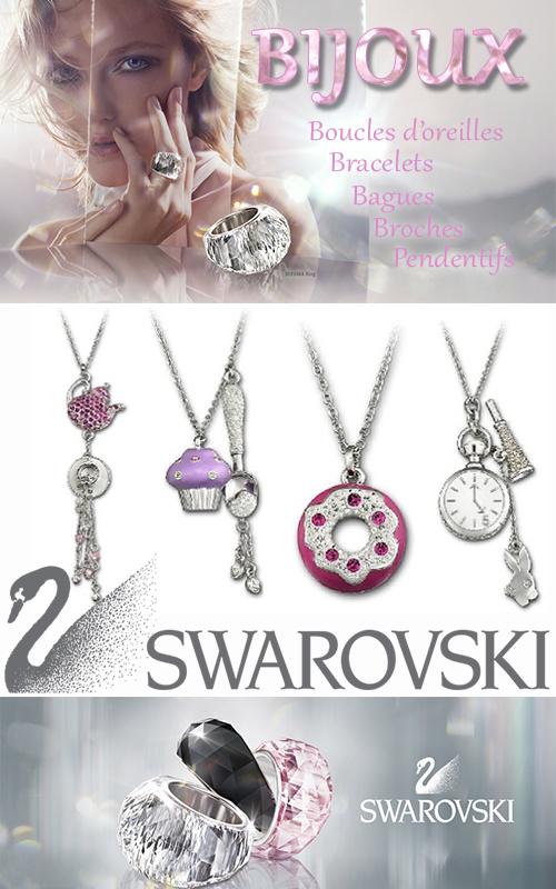 Bijoux fantaisie tendance Swarovski