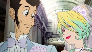 Lupin i Rebecca Rossellini na własnym ślubie