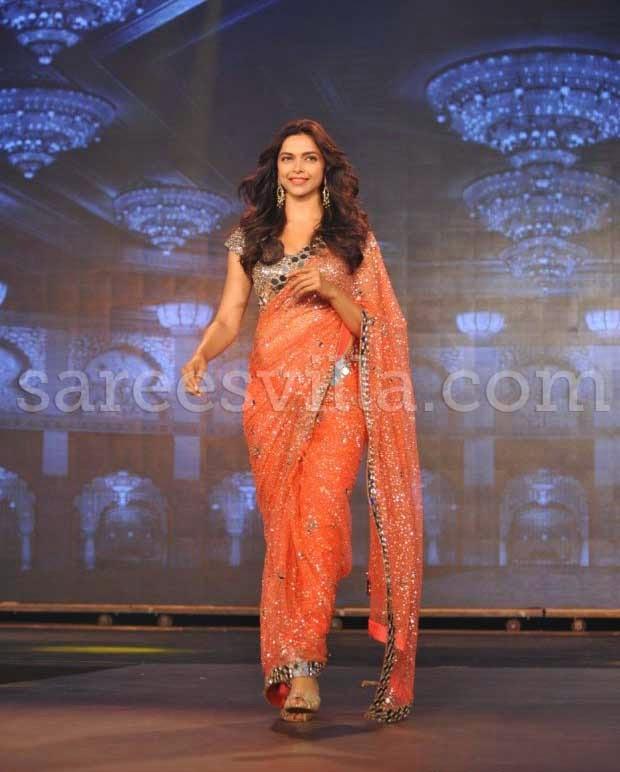 Actress Deepika Padukone In Saree