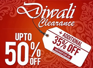Diwali Clearance: Upto 50% + Get Extra 35% Discount on Men's Clothing at Jabong