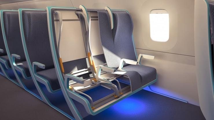 CÓDIGO::INFINITO: Asientos de avión que se adaptan al pasajero