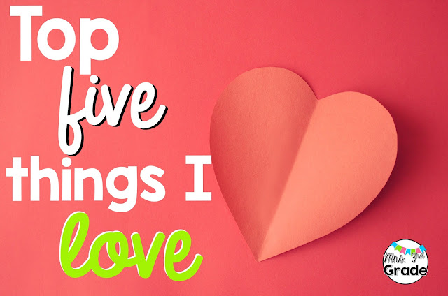 Top 5 things that I LOVE!  Including my family, friends, TPT and my favorite new tool to keep me organized and meeting my goals!!