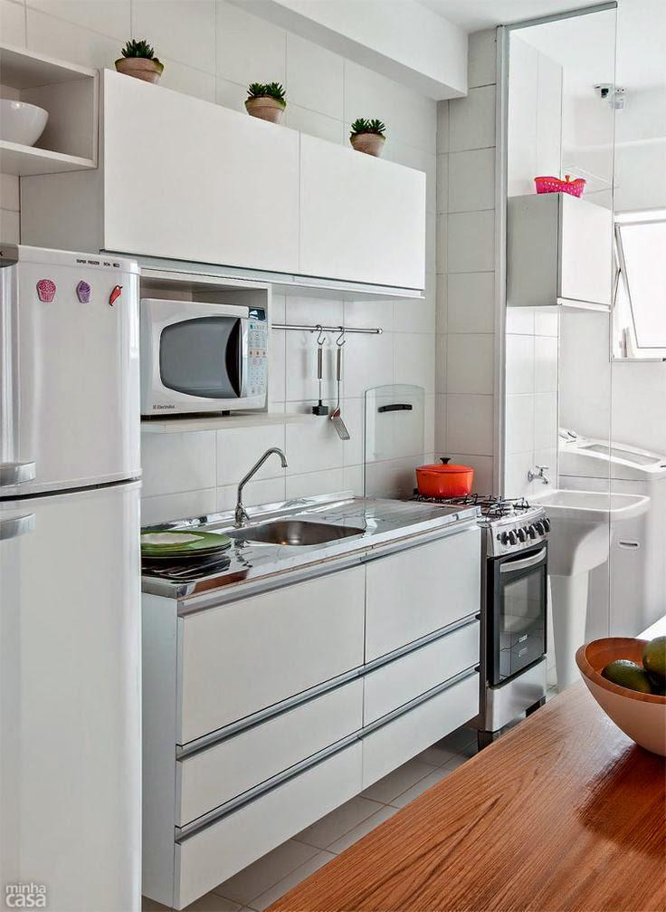 Nemulsa design cocinas peque as c mo ganar espacio for Cocinas pequenas rectangulares