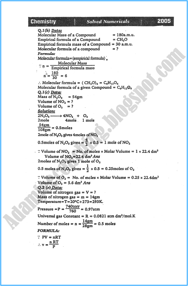 xi-chemistry-numericals-solve-past-year-paper-2005
