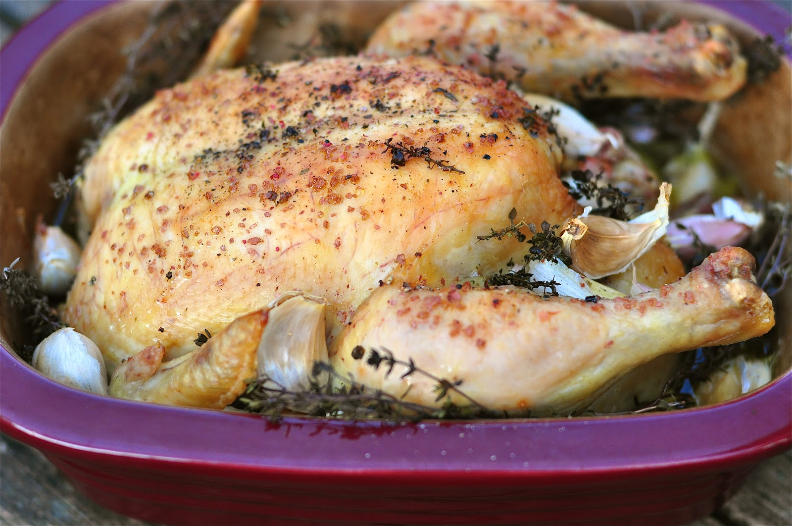 Nourishing Meals: Simple Whole Roasted Organic Chicken with Garlic ...